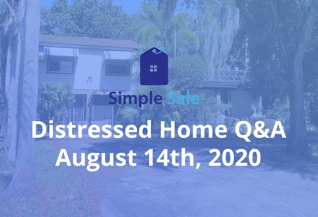 Simple Sale logo - Distressed Home Q&A - August 14th, 2020