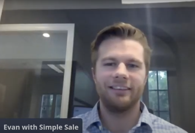 Evan from Simple Sale Central Florida speaking in the July Q&A Live Chat.