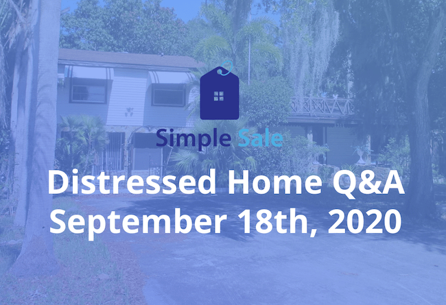 Simple Sale logo - Distressed Home Q&A - September 18th, 2020