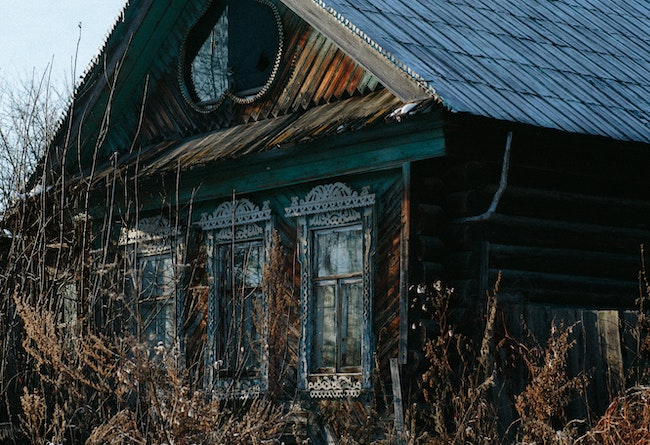 House that has been abandoned and is being sold as-is.